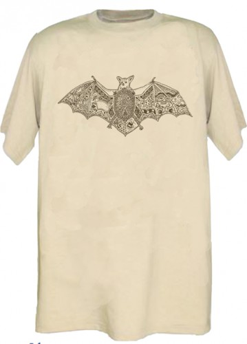 T-Shirt - Earth Art Fledermaus