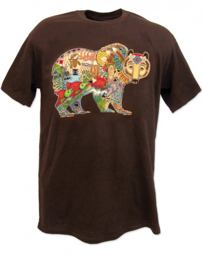T-Shirt  Earth Art Grizzly