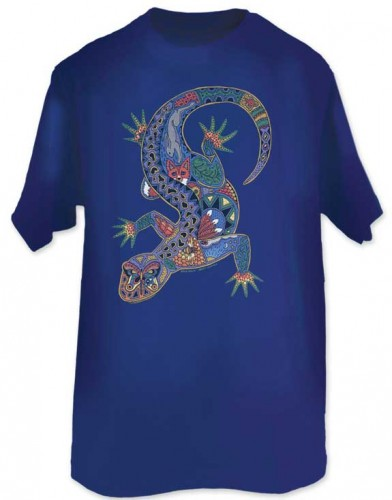 T-Shirt Earth Art Gecko