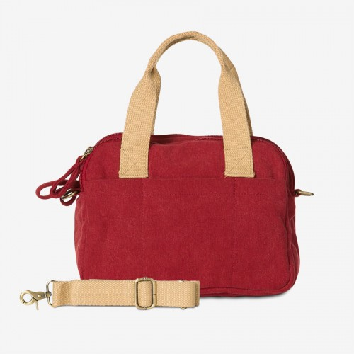 VICKIE V. (Ha-B428) - Canvas Handtasche, stonewashed